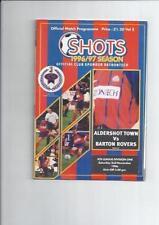 Aldershot Non-League Teams A-B Football Programmes