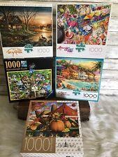 Mixed Lot 5 Jigsaw Puzzles 1000 Pieces Buffalo Games Aimee Stewart Ravensburger