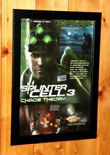 Tom Clancy's Splinter Cell Chaos Theory Rare Small Poster / Old Ad Page Framed
