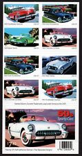 USA, SCOTT # 3931-3935 (3935B), UNFOLDED PANE OF 20 SPORTY CARS OF 1950's, MNH