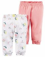 NEW Carter's 2-Pack Baby girl soft Pants 3 6 9 12 18 months
