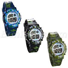 Students Children Fashion Multi-function Camouflage Sports Digital Wrist Watch