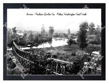 Historic Inman - Poulsen Lumber Co. - Kelso, Wa. Coal Creek Train Postcard