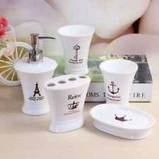 5 Piece Ceramic Bathroom Accessory Set