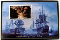 2005 GIBRALTAR SHIP STAMPS SS 200TH ANV. OF THE BATTLE OF TRAFALGAR