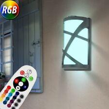Led Wall Light Aluminium RGB Dimmer Radio Control Exterior Lighting