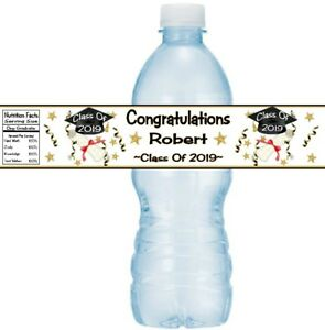 12 Graduation Party Water Bottle Stickers Congratulations Class Of 2021 Diploma