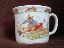 Royal Doulton BUNNYKINS Cup Mug ALBION Single Handle A WINDY DAY Fine Bone China