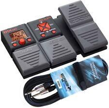 Zoom B1Xon Dispositif de Multi Effet pour Bass + Câble de Guitare 6m