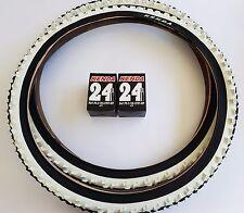 2x Kenda 24 Zoll Reifen schwarz/weiß K-829 24x1,95 (50-507) 2 x Schläuche MTB