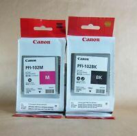 CANON PFI-102K Black & PFI-10 Magenta Inks ( RRP >$150 USD) [#795 Export*]
