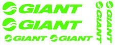 6 pegatinas de vinilo Verde fluorescente Giant  para bicicleta,  no 599