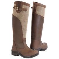 Toggi Ladies Winnipeg Equestrian Long Full Length Leather Riding Boots Brown New