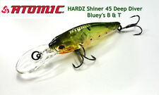 Atomic Hardz Shiner 45 DEEP Bream Lure Custom Colour; Blueys B & T