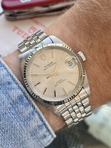 Tudor 72034 Rolex Prince Date Automatic Steel 32mm vintage 1992 watch papers box