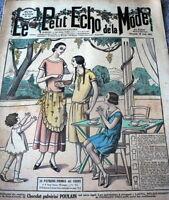 VTG 1920s PARIS FASHION & SEWING PATTERN MAGAZINE LE PETIT ECHO de la MODE 1924
