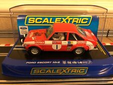 Scalextric C3483 Ford ESCORT Mk2 Roger Clark Welsh Rally Winner 1975