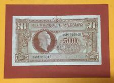 "500 FRANCS MARIANNE "" TRESOR "" 1945 BILLET FRANÇAIS en état pr.TB -"