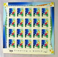 Adopting A Child Full Sheet .33 X 20 U.S. Stamps MNH #3398  Free Shipping