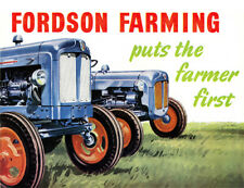 Fordson Farming Power Super Major Dexta Brochure Poster Advert A3