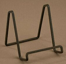 """1 X 4"""" Mahogany Metal Square Wire Stand Plate Photo Holder Display"""