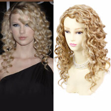 Wiwigs Lovely Stunning Long Curly Blonde Mix Skin Top Versatile Wigs