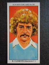 The Sun soccercards 1978-79 - KEN CLEMENTS - Manchester City #383