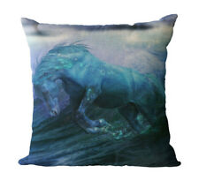 HORSE & WESTERN GIFTS ACCESSORIES HOME DECOR BLUE HORSE CUSHION COVER 18in 46cms