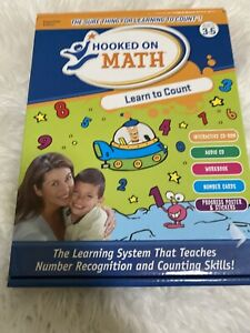 Hooked on Math Ages 3-5 Learn to Count Essentials Edition New open box complete
