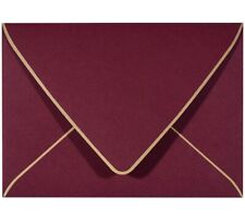 A7 Envelopes with Gold Border 5 x 7 - V Flap, Quick Self Seal, for 5x7 for