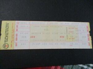 Vintage Ticketron Yes Show Ticket July 13 1975 Roosevelt Stadium Jersey City NJ