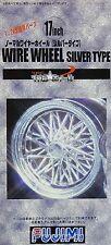 FUJIMI 19322 17inch Wire Wheel Silver (4 Felgen mit Reifen) (TW-53) in 1:24