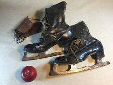 PATINS à GLACE 1930 Vintage patinage SPORT chaussure Schlittschuhe ice skates