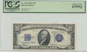 1934C $10 Silver Certificate FR#1704 PCGS 67PPQ Superb Gem Unc