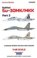 Caracal Decals 1/48 SUKHOI Su-30MK Su-30MKK FLANKER Part 2