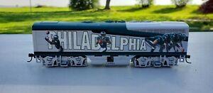 2000s Hawthorne Village HO Scale Train Car Philadelphia Eagles players.