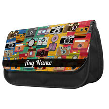 Personalised Retro Cameras Pencil Case School Kids Photography College Gift Idea