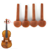 4/4 Size Jujube Wood Violin Fiddle Tuning Pegs Endpin Set Replacement GA