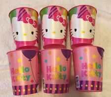 16oz Hello Kitty  Birthday Party Plastic Loot Treat Favor cup (6 Cups)