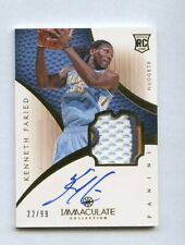 2012-13 Immaculate Kenneth Faried RPA RC Rookie GU Patch AUTO 22/99