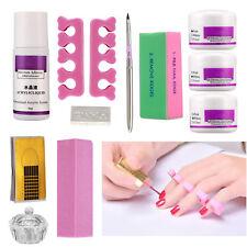 Pro Nail Art Kit ~ 3 Colors Acrylic Powder Liquid Pen Block Glass Cup Tools ~ Us