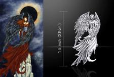 Eclipse FATA PENDENTE DA Fantasy artista AMY Brown PETER STONE proprio come argento