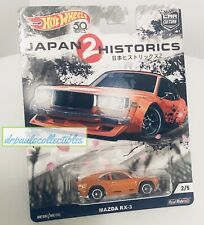 Hot Wheels Japan 2 Historics Mazda RX-3 Real Riders Car Culture Brand New HTF