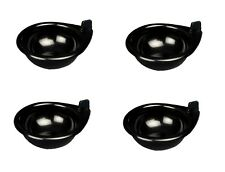 4x Egg Poacher Plastic Black Large Cups 6 cm Replacement Spare Part Cook Fry