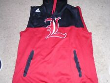 Adidas Louisville Basketball Game Used Terry Rozier Sleeveless Hoodie Warm up LG