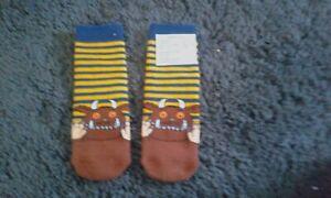 Boys Gruffalo slipper socks size 9-12