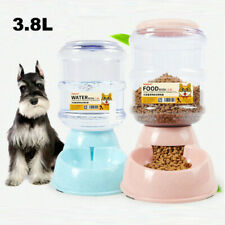 Automatic 3.8L Cat Feeder Pet Dog Water Bottle Dispenser Travel Food Dish Bowl