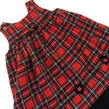 Sophie Rose Sleeveless Christmas Jumper Dress 3T Toddler Girl Plaid Corduroy