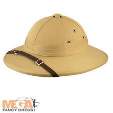 705d5c31eb1bc Deluxe Safari Hat Adults Fancy Dress Jungle Explorer Helmet Costume  Accessory