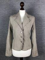Marks and Spencer Womens Linen Jacket Blazer Size 10 Cream Beige Per Una